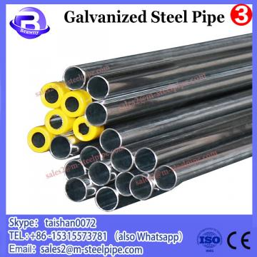 galvanized steel pipe size
