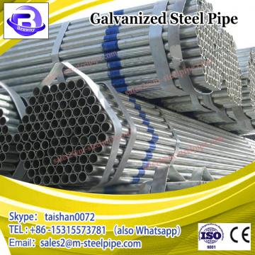 Hot Dip Galvanized Round Steel Pipe and Tube / Galvanized Steel Pipe For Greenhouse Frame