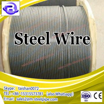 customized Galvanized and ungalvanized stainless steel wire cable